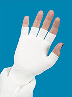 Glove Liners Half Finger White