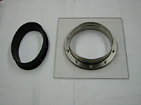 Stainless Steel Port; 9 inch OD, 2 piece w/Gaskets