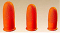 Heavyweight Nitrile Fingercots; 16 mil., Short, Orange, Unrolled